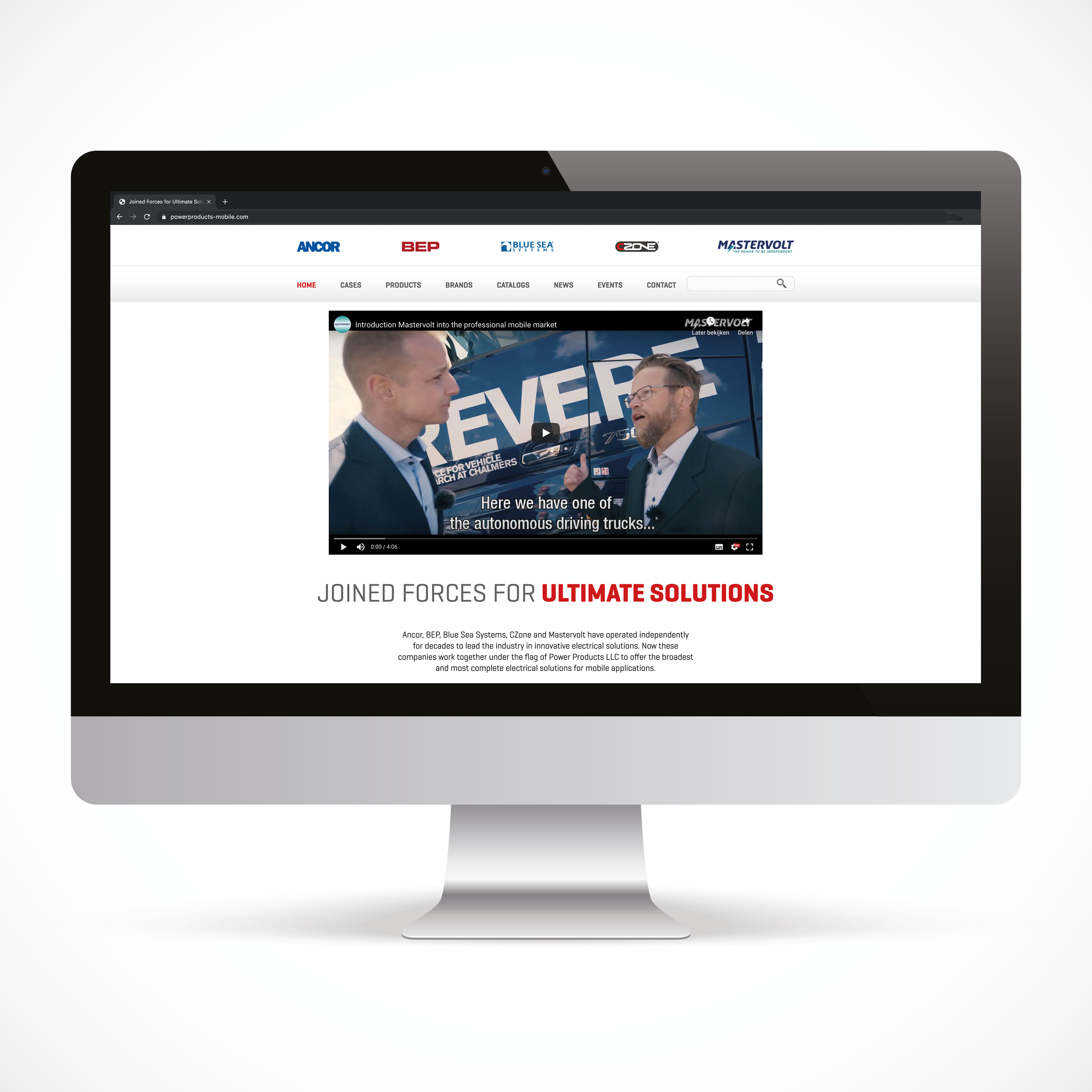 Website voor Power Products Mobile Solutions
